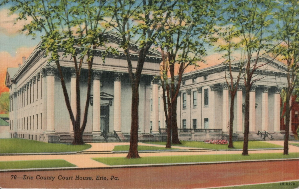 Postcard; postmarked Erie, 1947; collection of the author.